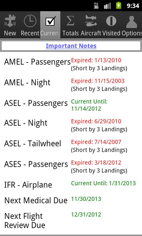 Myflightbook for Android - screenshot