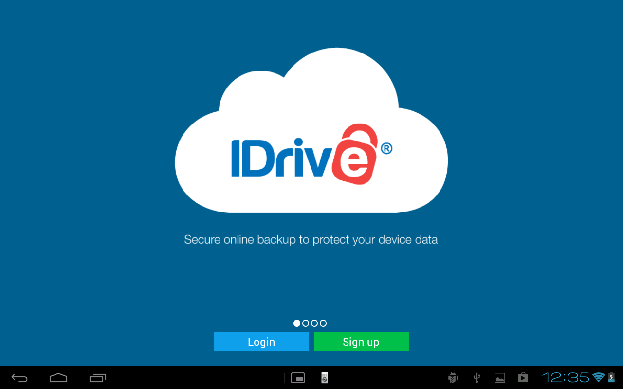 IDrive (Online Backup) - screenshot
