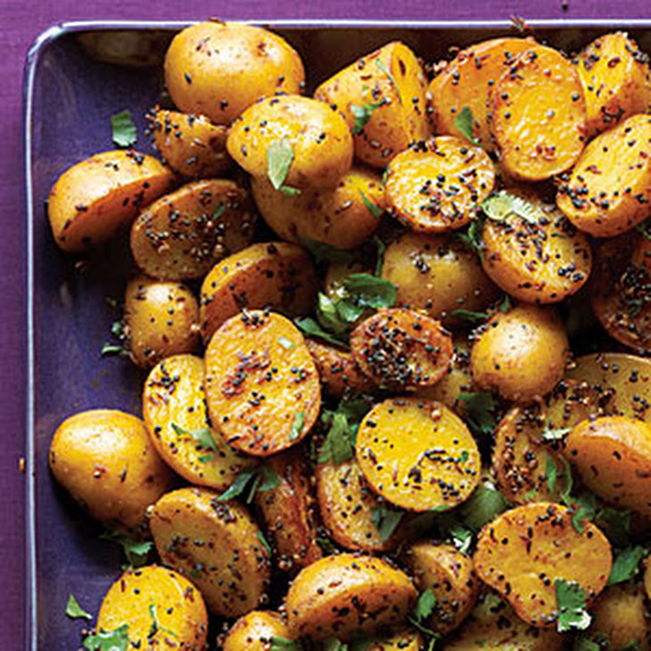 Indian Potatoes with Black and Yellow Mustard Seeds Recipe