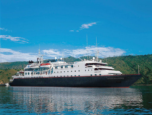 Silversea-Silver-Discoverer-moored - Silver Discoverer follows the routes of ancient seafarers to some of the most isolated parts of Southeast Asia, Australia, New Zealand, Micronesia, Melanesia and the Russian Far East.