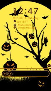 GO Locker Theme Halloween- screenshot thumbnail