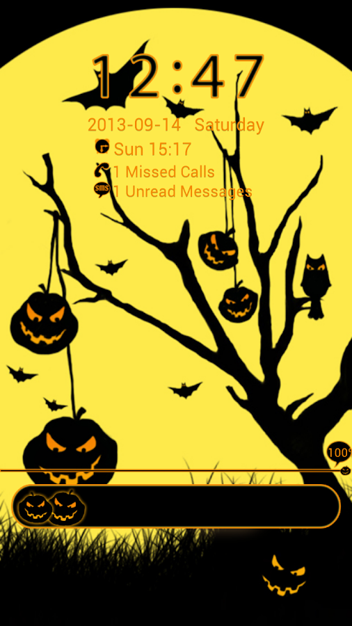 GO Locker Theme Halloween- screenshot