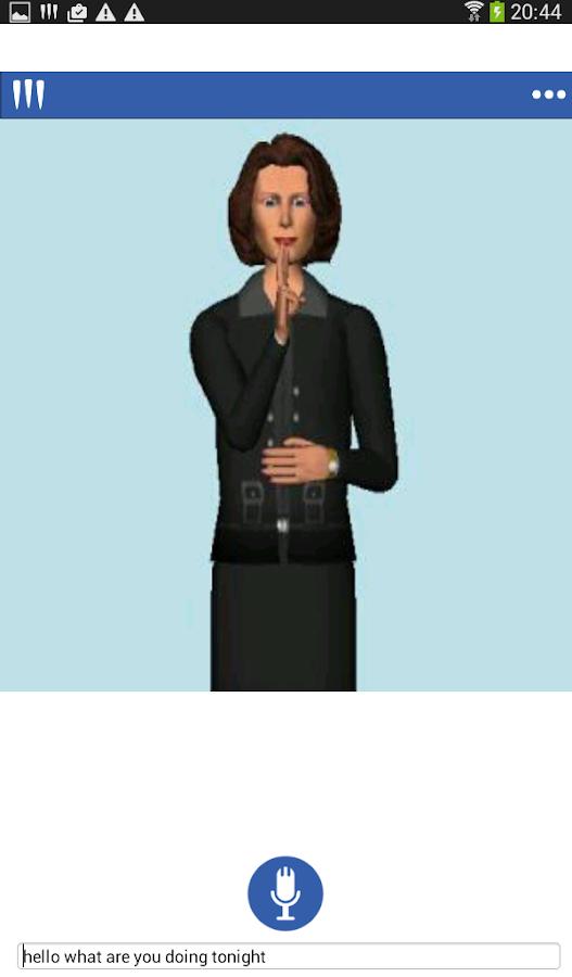 Mimix -Speech to Sign Language - screenshot
