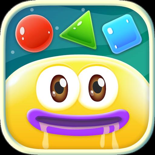 ジェリーエイト:親子で楽しく学ぶ図形、数、色!ゼリーで知育! 教育 App LOGO-硬是要APP