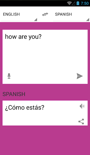 English to spanish translation