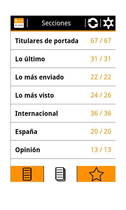 RSS El País - screenshot