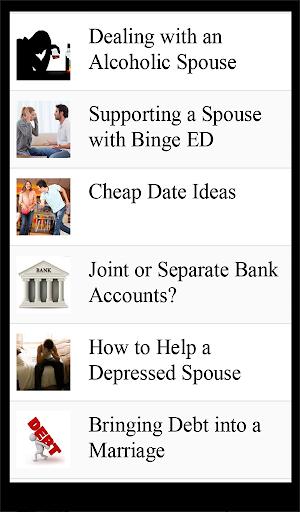 Marriage Improvement Lists