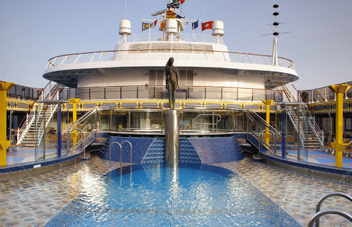 Costa-Mediterranea-pool - Costa Mediterranea cruisers can choose to swim or lounge at any of the ship's four pools.