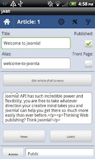 Joomla Admin Mobile! - screenshot thumbnail