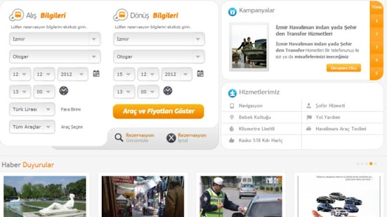 izmir car rental company- screenshot thumbnail