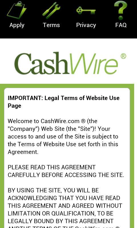 Cashwire Payday Loans- screenshot