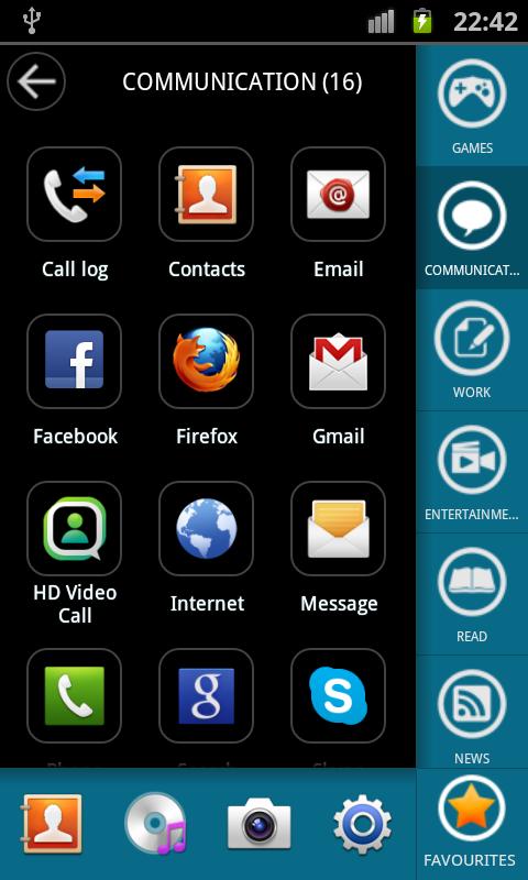 App Arrange - sidebar launcher - screenshot