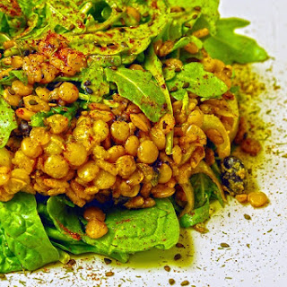 Lentil Arugula Range Salad.