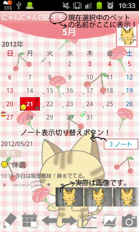 Cat Diary Free(Pet) - screenshot