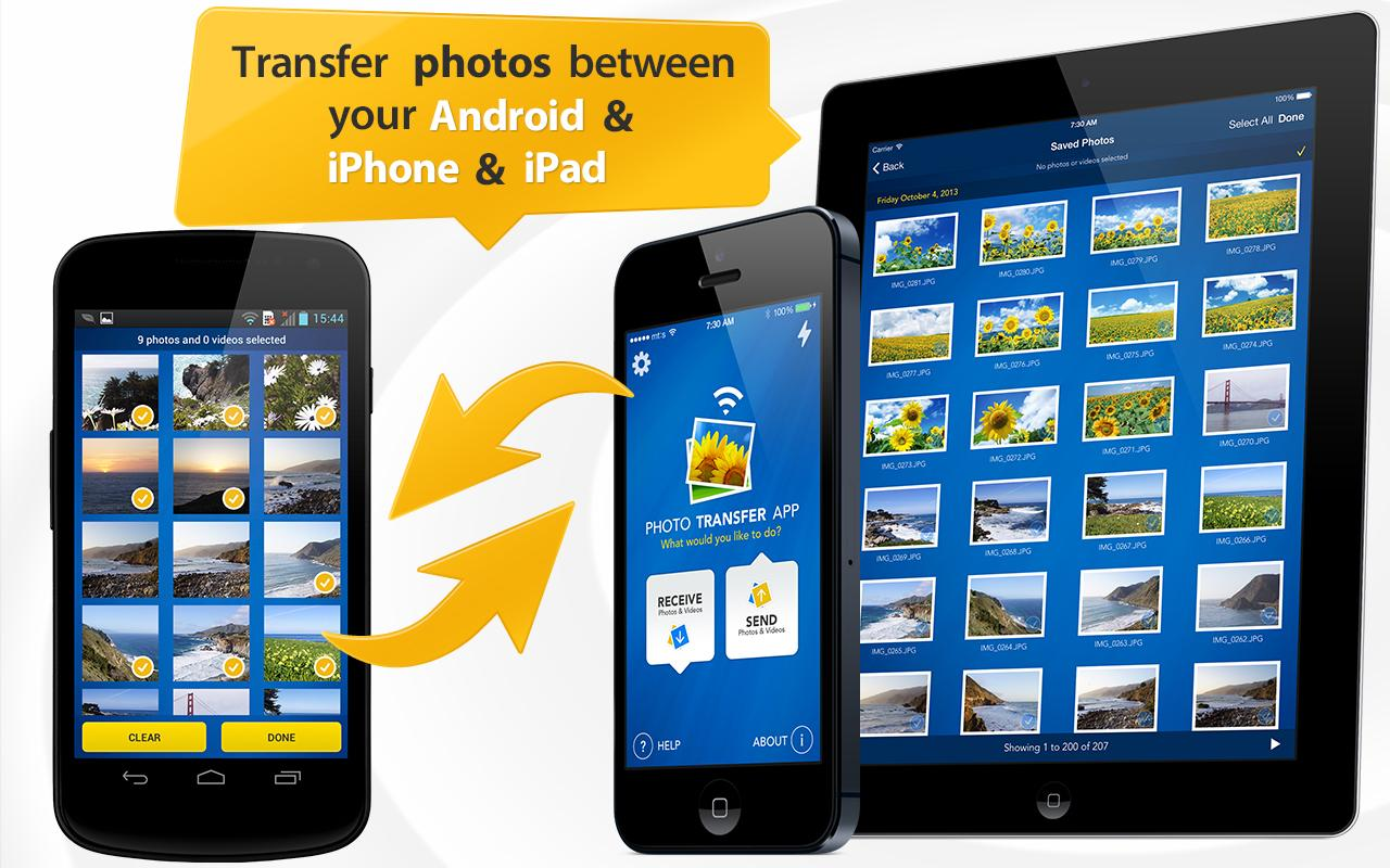 Photo Transfer App: captura de tela