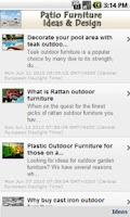 Screenshot of Patio Furniture Ideas & Design