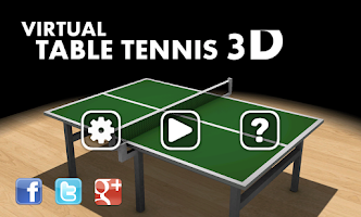 Screenshot of Virtual Table Tennis 3D