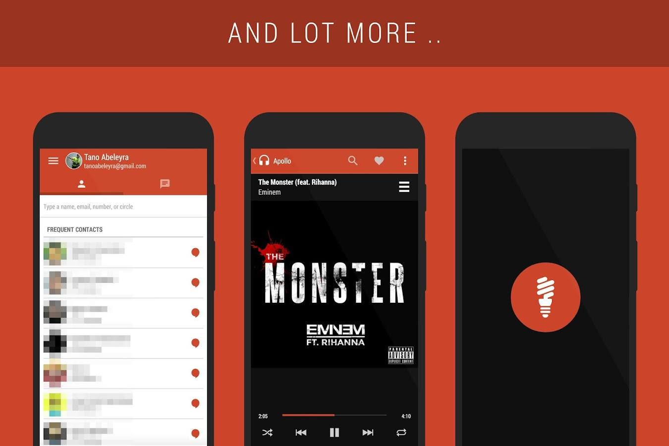 Gmail mobile theme - Flame Pa Cm11 Theme Screenshot