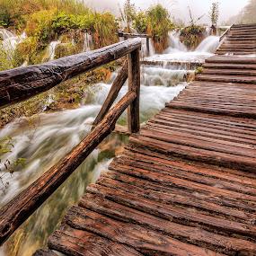 Plitvice Lakes by Rashid Ramdan - Buildings & Architecture Bridges & Suspended Structures ( plitvice, nature, autumn, lakes, croatia, landscapes, landscape,  )
