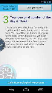 Numerology Daily Horoscope - screenshot thumbnail