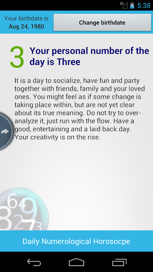 Numerology Daily Horoscope - screenshot