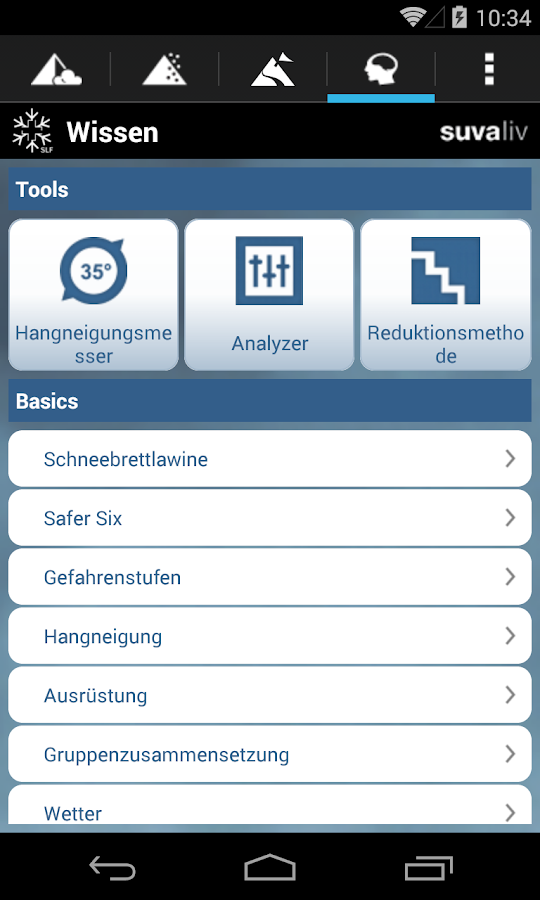 White Risk - SLF Lawinen-App – Screenshot