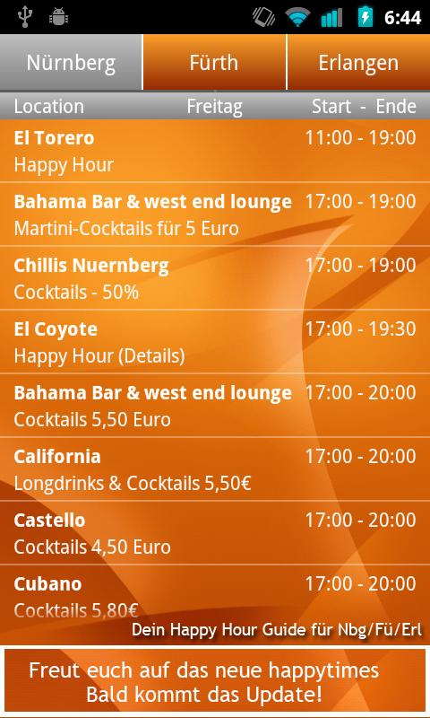 HappyTimes HappyHour Nürnberg - screenshot