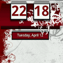 Red Honeycomb Clock Widget logo