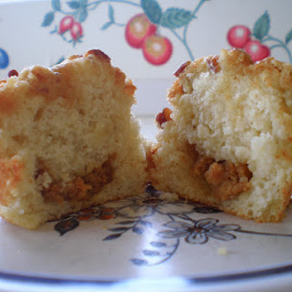 Banana Surprise Muffins With Toasted Pecan Streusel