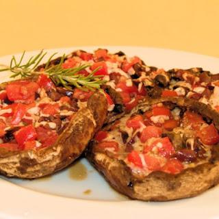 Tomato & Olive-Stuffed Portobello Caps