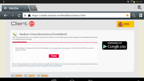 Cliente movil @firma- screenshot thumbnail
