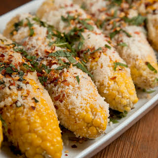 Mario Batali's Grilled Corn Italian Style.
