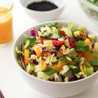 Asian Rainbow Salad + Spicy Mango Dressing