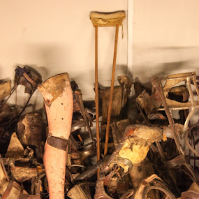 Prostheses of Holocaust Victims by Judy Wright Lott - Artistic Objects Healthcare Objects ( ww ii, museum, objects, historic, prostheses )