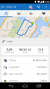 Runtastic laufen fitness screenshot thumbnail