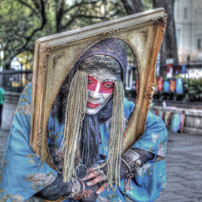 Street  Artist Gypsy by Michael Holland - People Street & Candids (  )