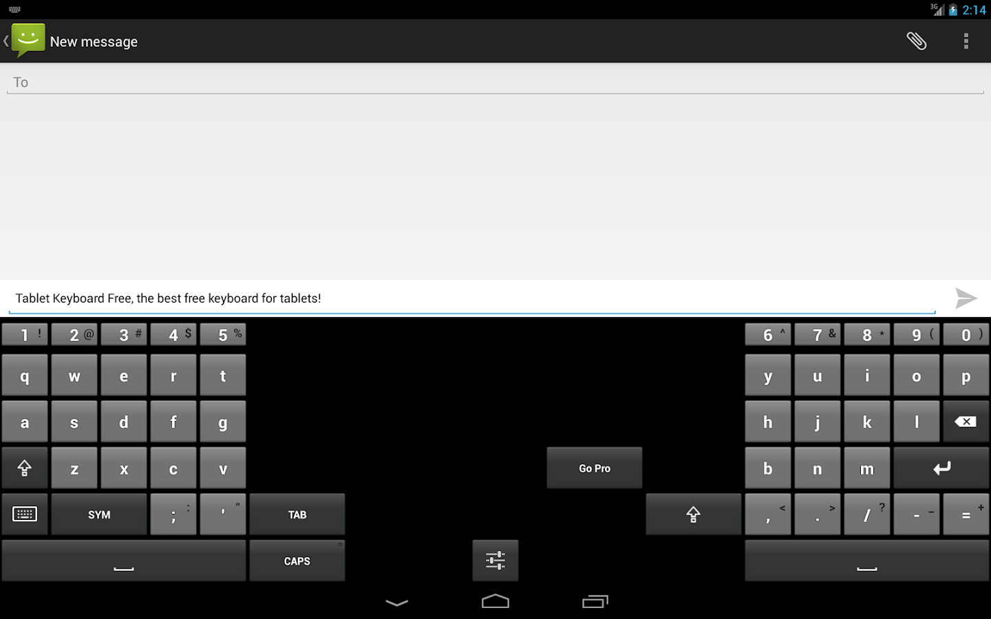 Tablet Keyboard Free - screenshot