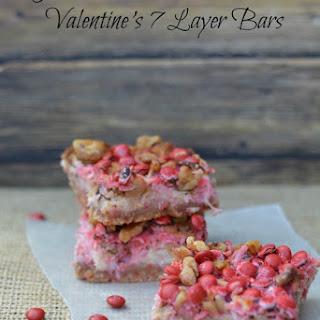 Gluten Free, Dairy Free Valentines 7 Layer Bars.