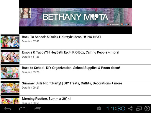 Bethany Mota Channel