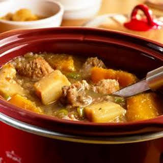 Slow Cooker Fall Harvest Pork Stew.