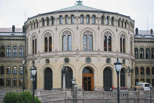 The Parliament in Oslo, Norway.