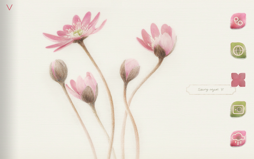 【免費個人化App】[Botanical Art] Hepatica Atom-APP點子