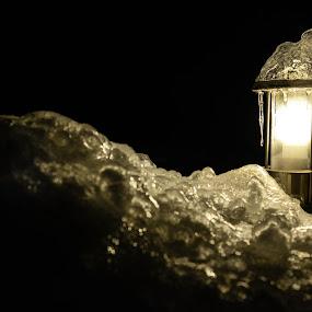 Ice hat by Metka Majcen - City,  Street & Park  Night