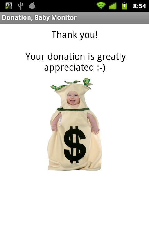 Baby Monitor Donation- screenshot
