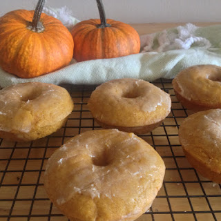 Baked Pumpkin Doughnuts with Brown Butter Maple Glaze