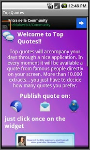 Top Quotes Widget FREE - screenshot thumbnail