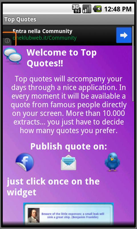 Top Quotes Widget FREE - screenshot