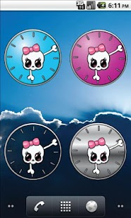 Girly Skull Clocks - screenshot thumbnail