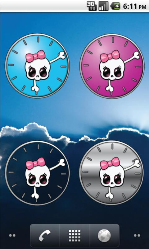 Girly Skull Clocks - screenshot
