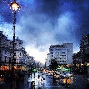 by Luis Antunes - City,  Street & Park  Street Scenes ( #rain )
